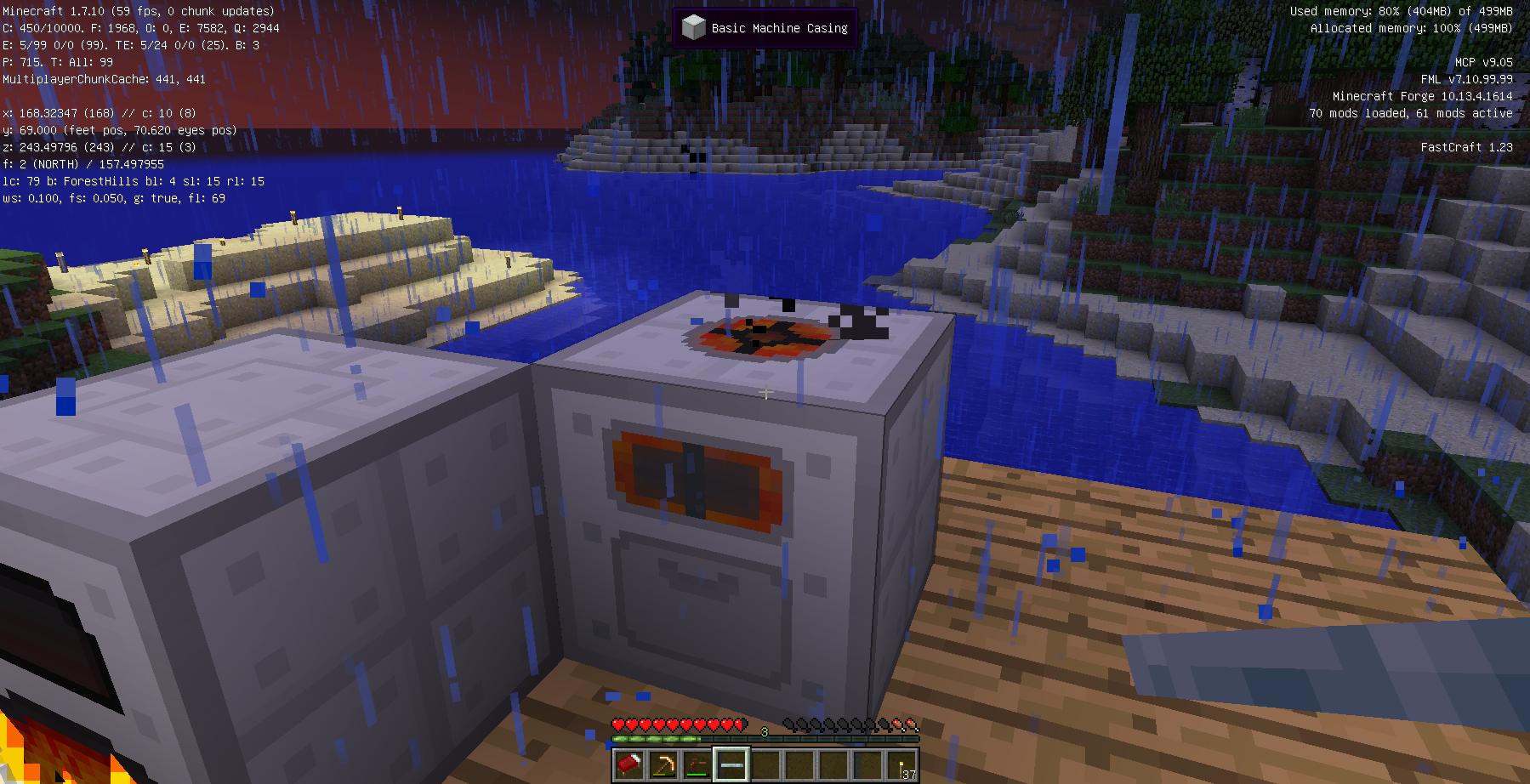 左が火力発電機、右が粉砕機